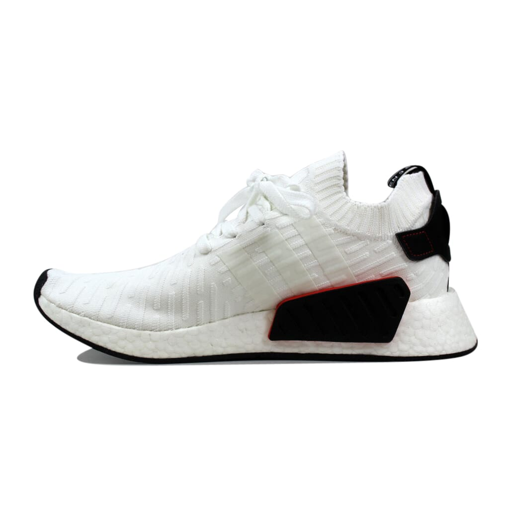 super popular e3aa1 a1b86 Details about Adidas NMD R2 Primeknit White/Black BY3015 Men's Size 11