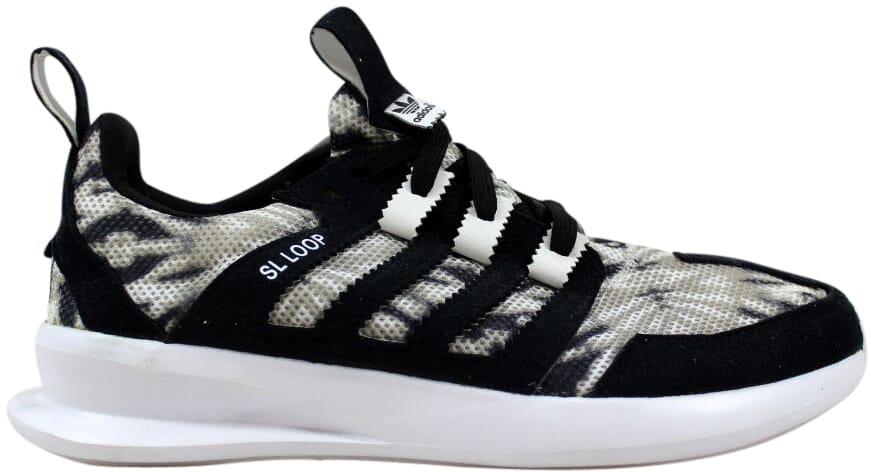 best sneakers ed4de 2c09b Image is loading Adidas-SL-Loop-Runner-Black-White-Tie-Dye-