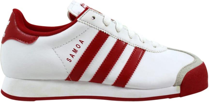 cee3bc6b9e66f Image is loading Adidas-Samoa-White-Red-G21250-Grade-School-SZ-