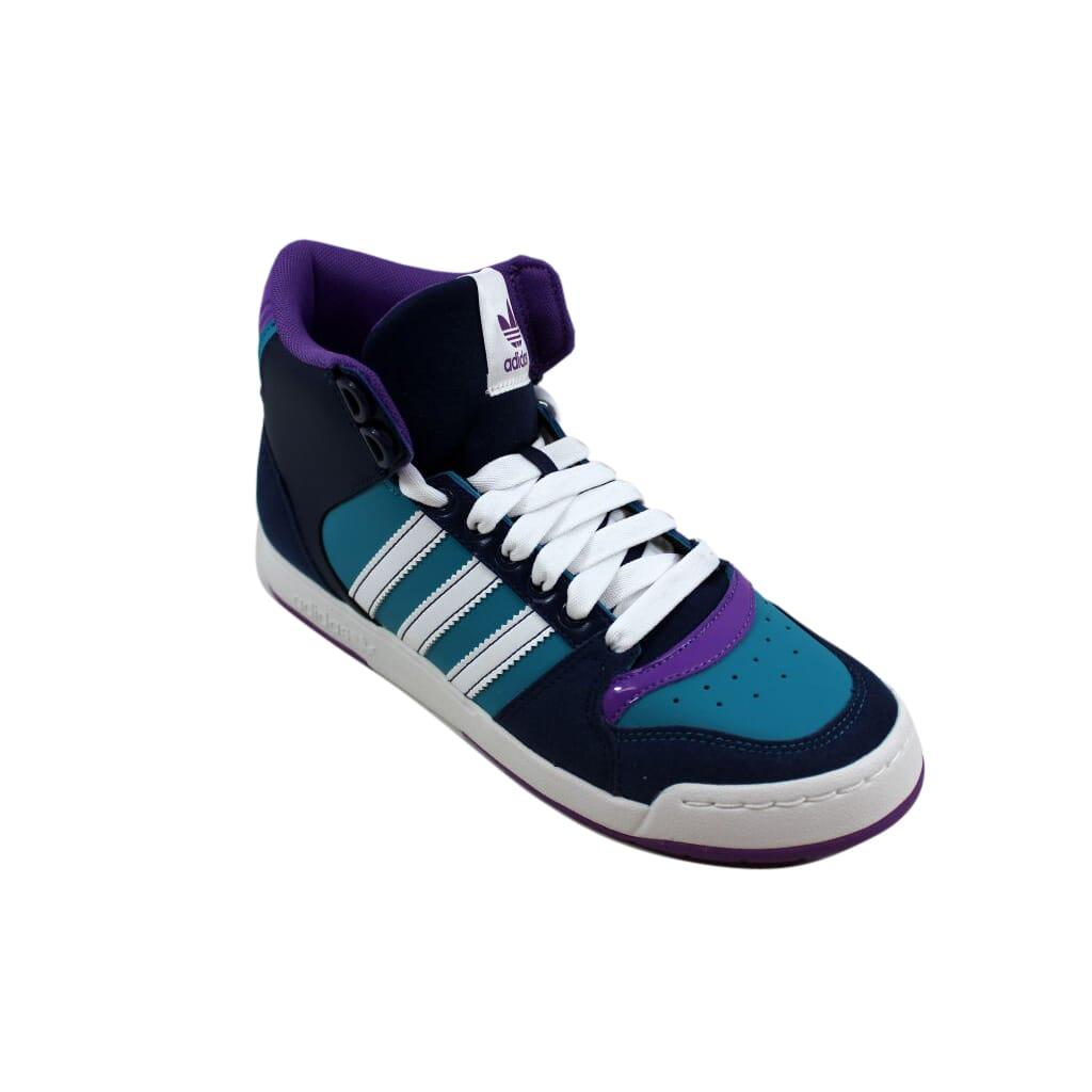 premier taux fad08 93afb Details about Adidas Midiru Court Mid 2.0 W Dark Navy/White-Green G61140  Women's SZ 7