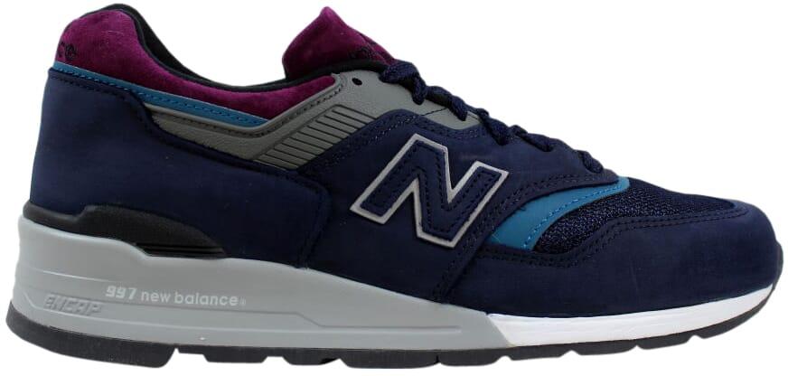 New Balance 997 Navy Purple-Green Northern Lights M997PTB Men's SZ 9