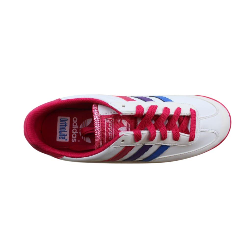7b099b9a91c5e Adidas Dragon J White Pink-Purple Q20540 Grade-School