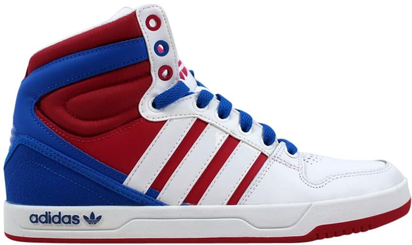 Adidas Court Attitude W Blanc Rouge-Bleu Q32914 Femme Sz 7