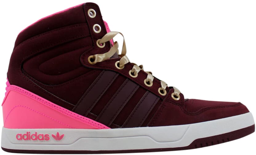 best website dad4f 0fcaf Image is loading Adidas-Court-Attitude-W-Light-Maroon-Burgundy-Q32916-