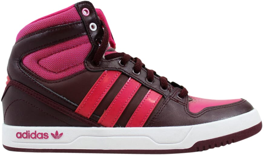 on sale 1d0ee aead4 Adidas Court Attitude J MaroonPink-White Q33455 Grade-School