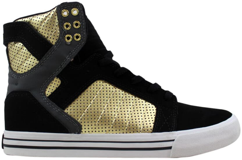Supra Skytop Black Grey-gold-White S18195 Men's SZ 12