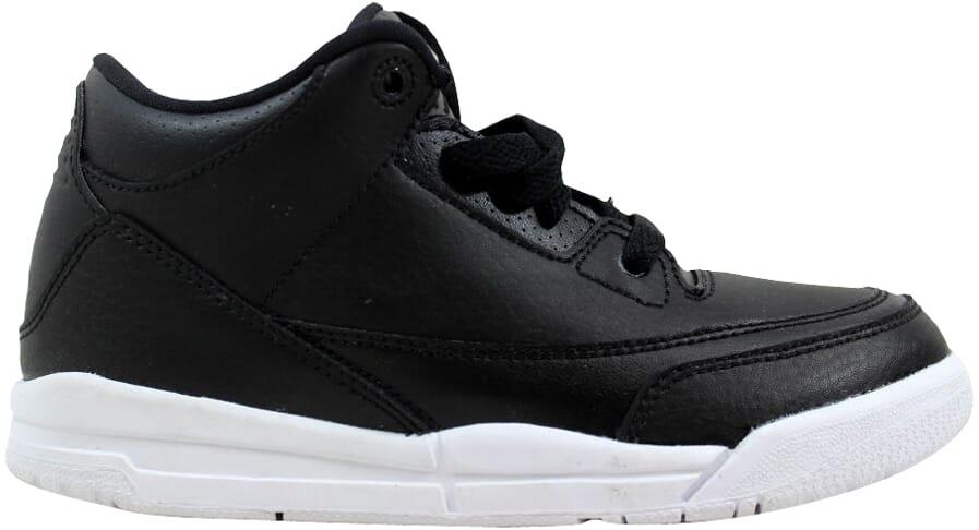 512858fb1cb3b8 Nike Air Jordan III 3 Retro BP Black Black-White 429487-020 Pre ...