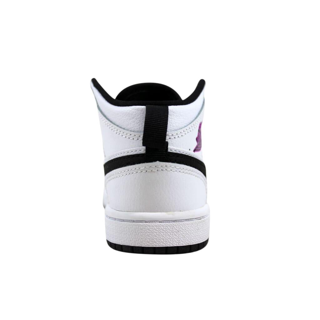 ba009ab34f81fc Nike Air Jordan I 1 Mid GP White Fuchsia Blast-Black Pre-School 640737-138  Size 10.5 Medium