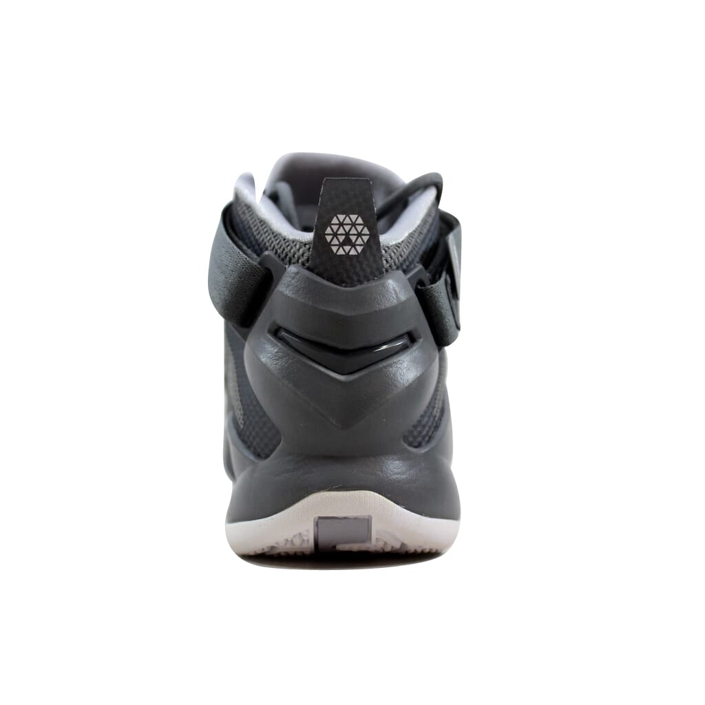101e43df05dd6 Nike Lebron Soldier IX 9 Cool Grey White-Wolf Grey Grade-School 776471-003  Size 7 Medium