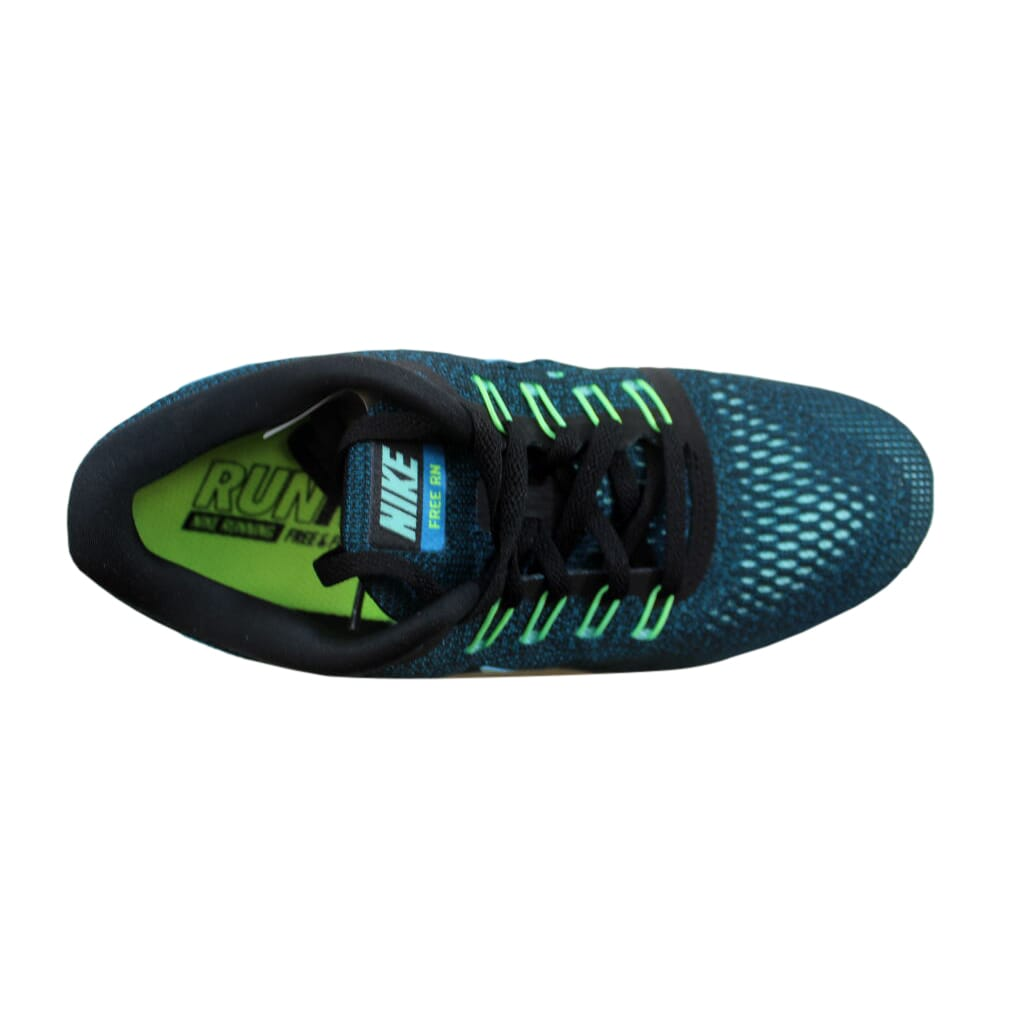 bf99dc27126 Nike Free RN Black Hyper Turquoise-Green Abyss-Volt 831509-003 ...
