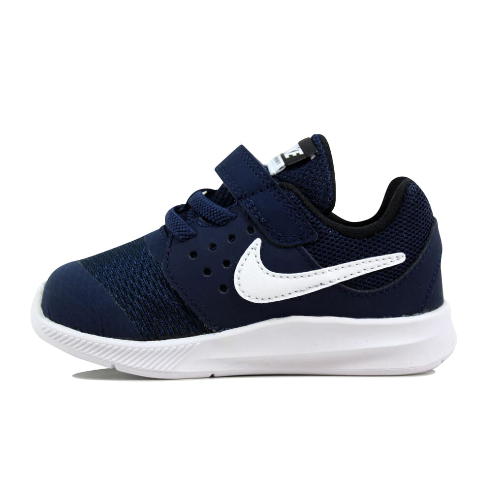 0f9ecf8d5bf3 Nike Downshifter 7 Midnight Navy White 869974-400 Toddler SZ 7C