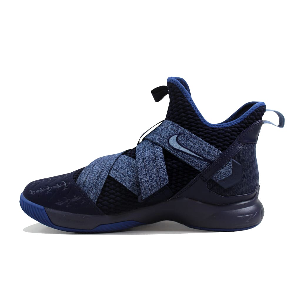 1ccce8f8829d Nike Lebron Soldier XII 12 Blackened Blue Work Blue AO2609-401 Men s ...