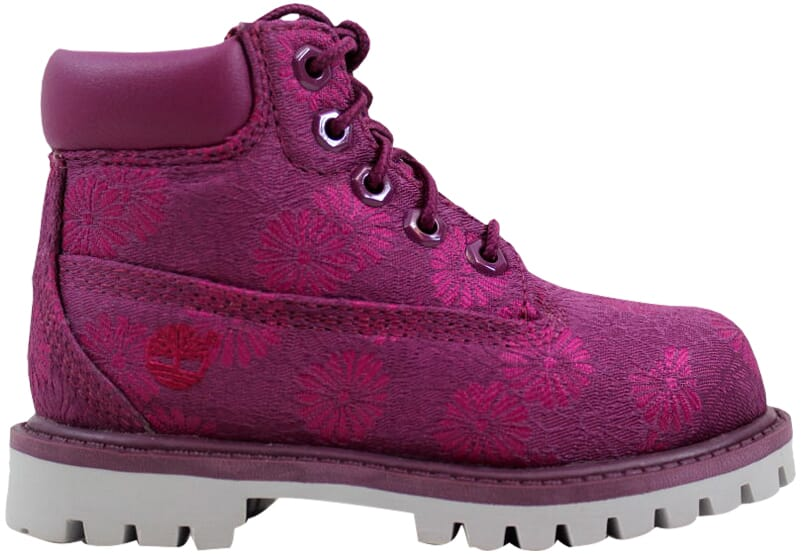 Details about Timberland 6 Inch Classic Boot Magenta Floral TB0A175K Toddler SZ 4.5C