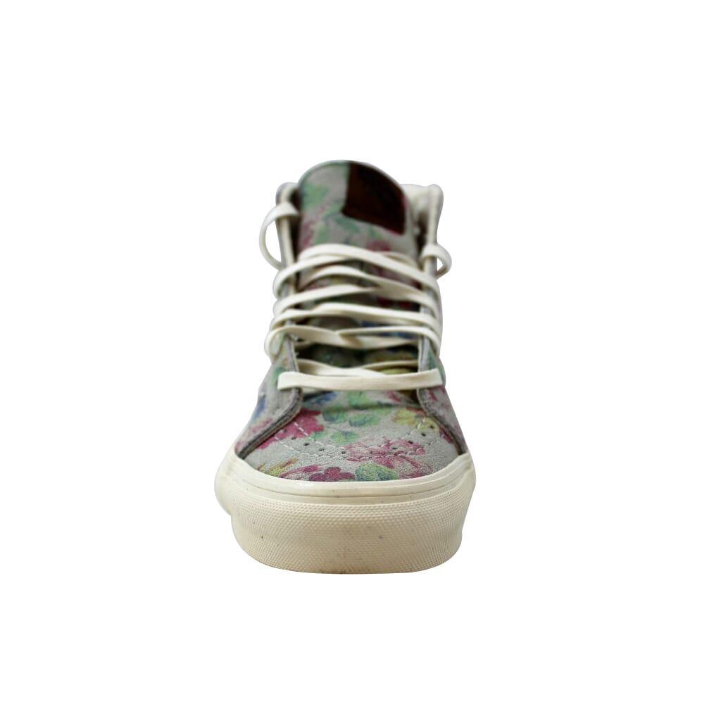 84ada4773d Vans Sk8-Hi Slim Suede Floral Marshmallow VN-0XH7EH5 Men s SZ 5 ...