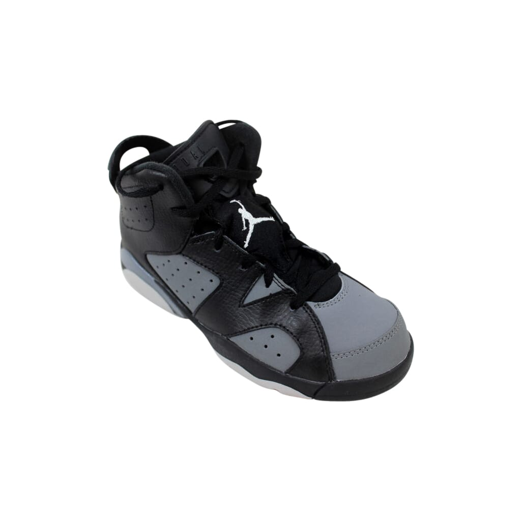 fabcfdd1c48c56 Nike Air Jordan VI 6 Retro BP Black White-Cool Grey 384666-010 PS SZ ...