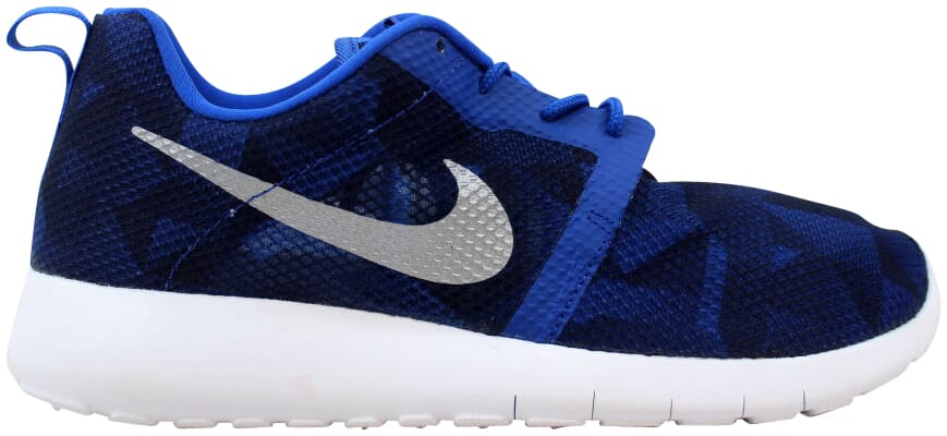 8f95010056f07 Nike Roshe One Flight Weight Game Royal Metallic Silver-Navy 705485 ...