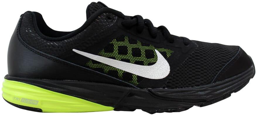 922dcb51093 Nike Tri Fusion Run Black Metallic Silver-Volt 749832-007 Grade ...