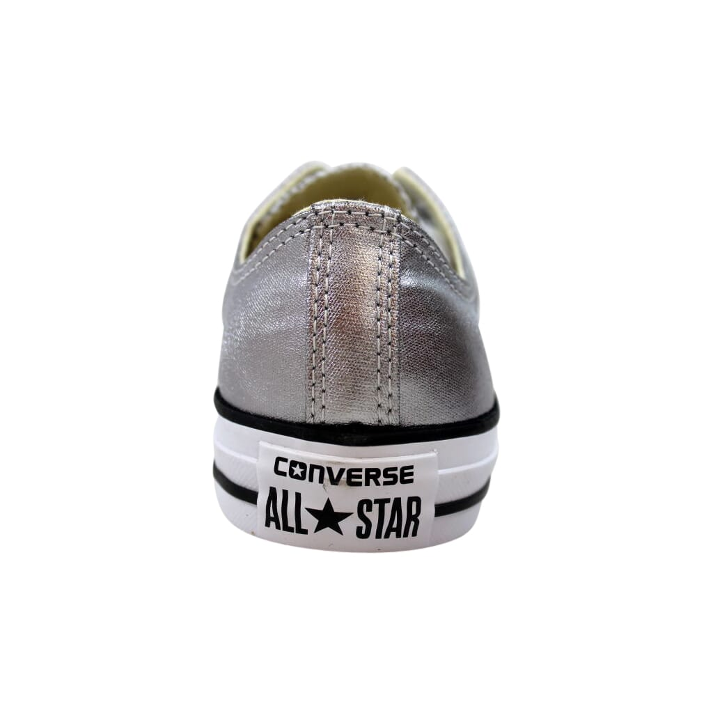 Silver euro 36.5 Converse All Star Chuck Taylor Low Top Trainers Size 4