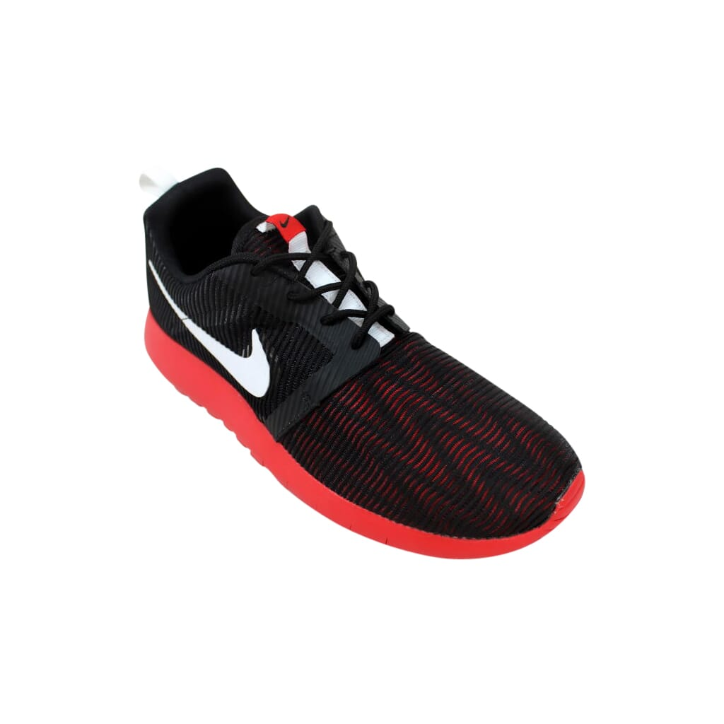 73b9d0aab226 Nike Roshe One Flight Weight Black White Red 705485-006 Grade-School ...