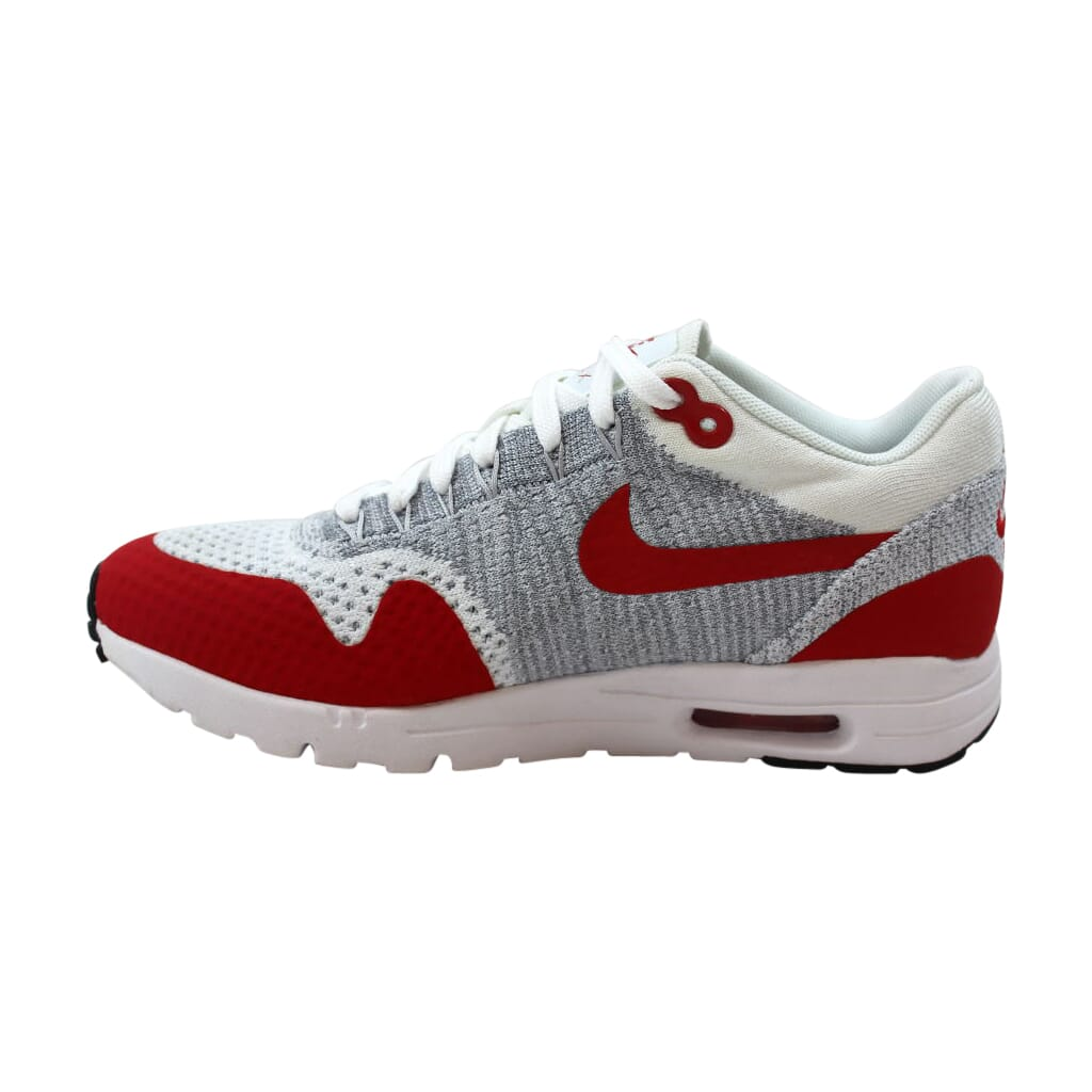 Details about Nike Air Max 1 Ultra Flyknit WhiteRed Pure Platinum 843387 101 Women's SZ 6.5