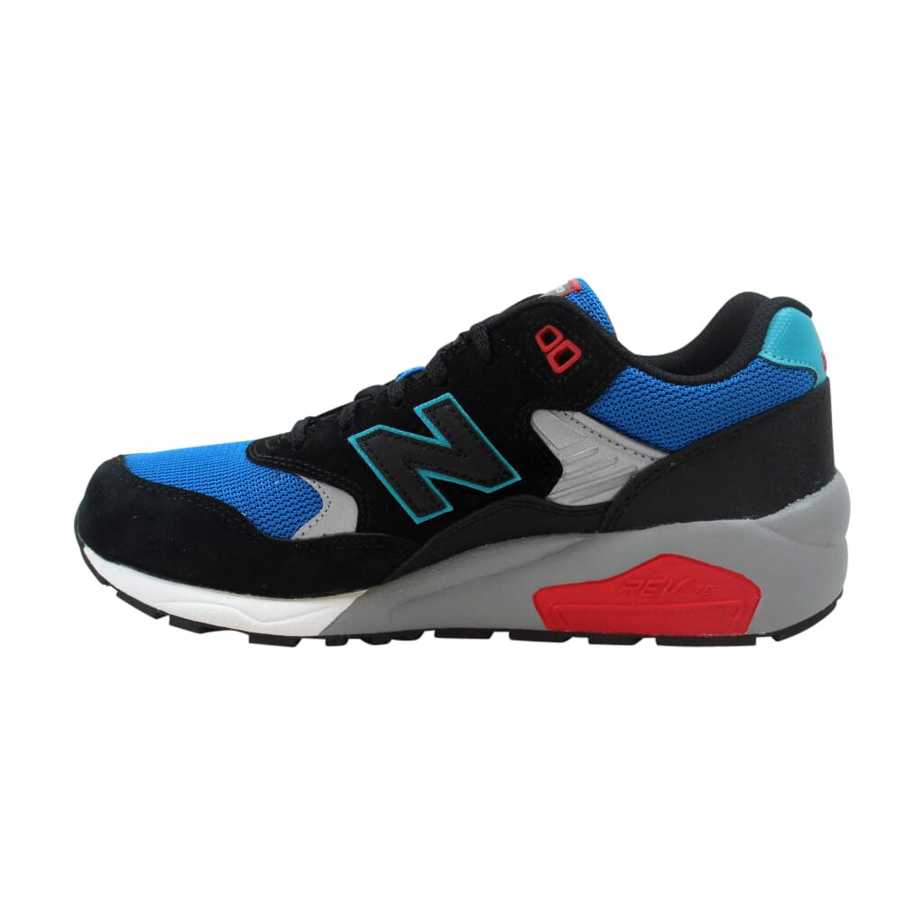 best authentic 8a03e 9513d Details about New Balance 580 Elite Pinball Suede Black/Blue-Red MRT580BF  Men's Size 8