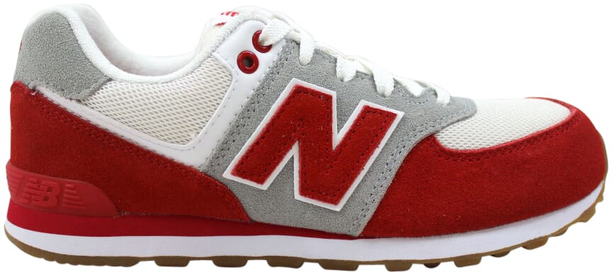 uk availability e4ca0 9695d Details about New Balance 574 Resort Sporty Red/White-Grey KL574RUG  Grade-School Size 5.5Y