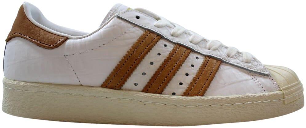 Adidas Superstar 80s Footwear White/Gold Metallic Men's Siz