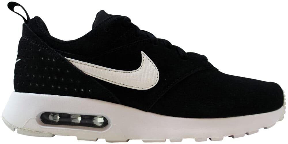 Nike Air Max Tavas Leather Suede Shoes Mens 11 Blackwhite 802611 001