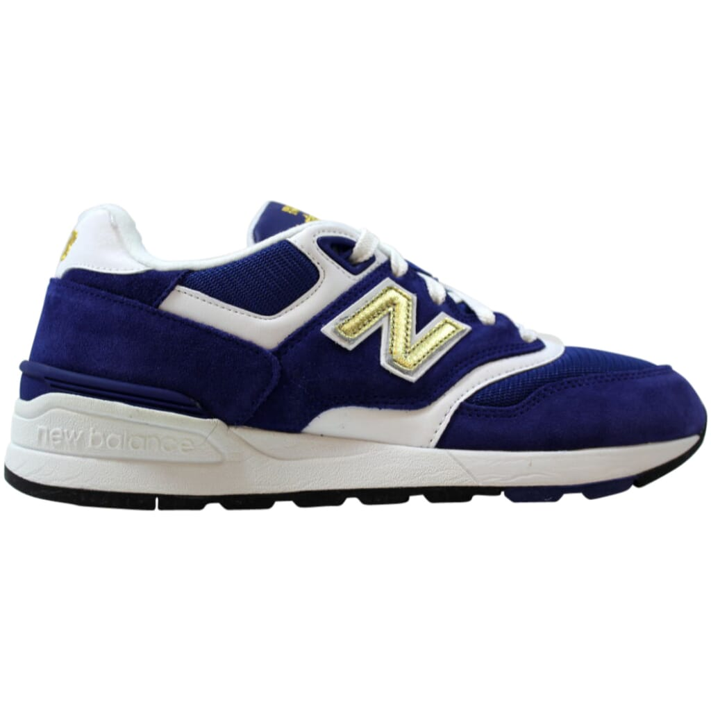 ML597RSB] New Balance 597 Blue/White-Gold Men's Size 6.5 | eBay