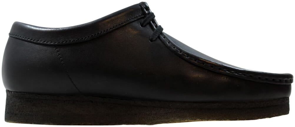 Men/'s Clarks Original Low Wallabee Shoe Black Leather 26 103756