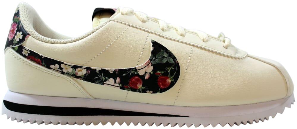 Details about Nike Cortez Basic LTR VF Pale IvoryBlack Pink Tint BQ5297 100 Grade School Size