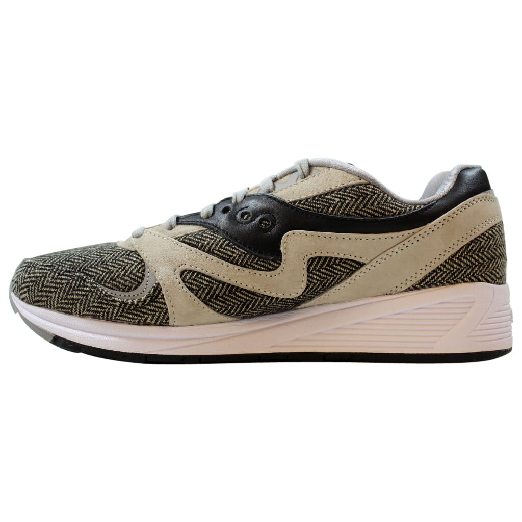 SAUCONY GRID 8000 CL HT GREY BLACK WHITE MENS SIZE RUNNING SNEAKERS S70352-1