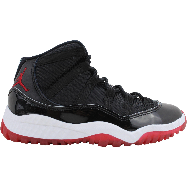 Jordan 11 Retro PS Black True Red White Noir Blanc 1 Y 378039 061 ...