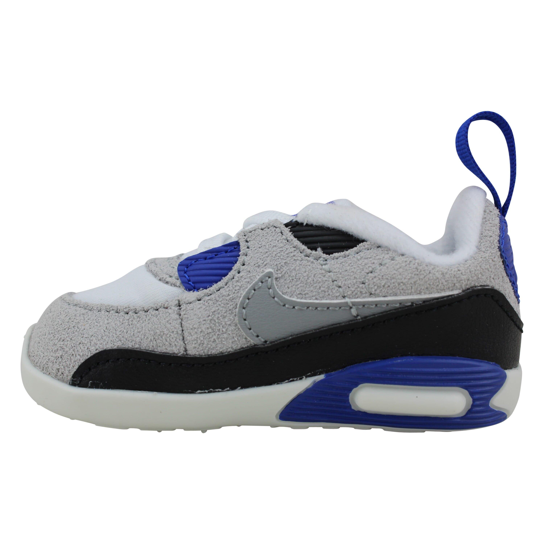 Nike Air Max 90 Crib White/Partle Grey-Blue-Black CI0424-103 ...