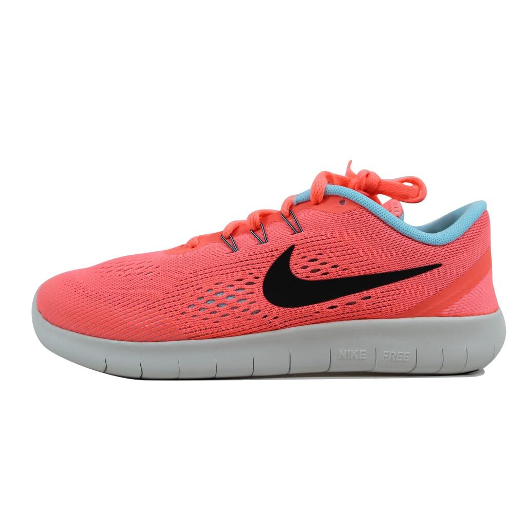 cfcb155d6 Nike Free Run Lava Glow/Metallic Silver 833993-601 Grade-School SZ ...