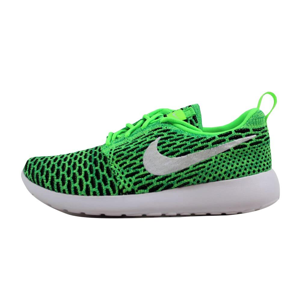 timeless design 6491e 71275 Nike Roshe One Flyknit Voltage Green White-Lucid Green 704927-305 Women s  SZ 8.5