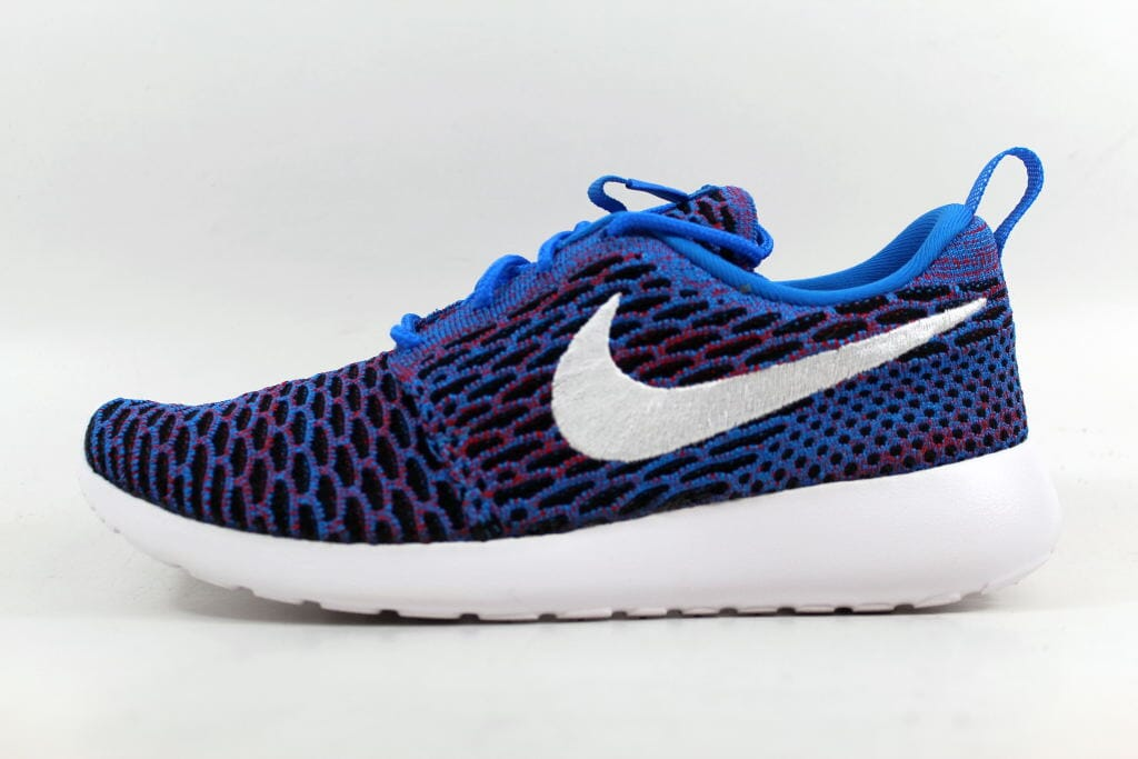 1128bcafe1bd8 ... reduced nike roshe one flyknit photo blue white university red black  704927 404 sz 7 20720