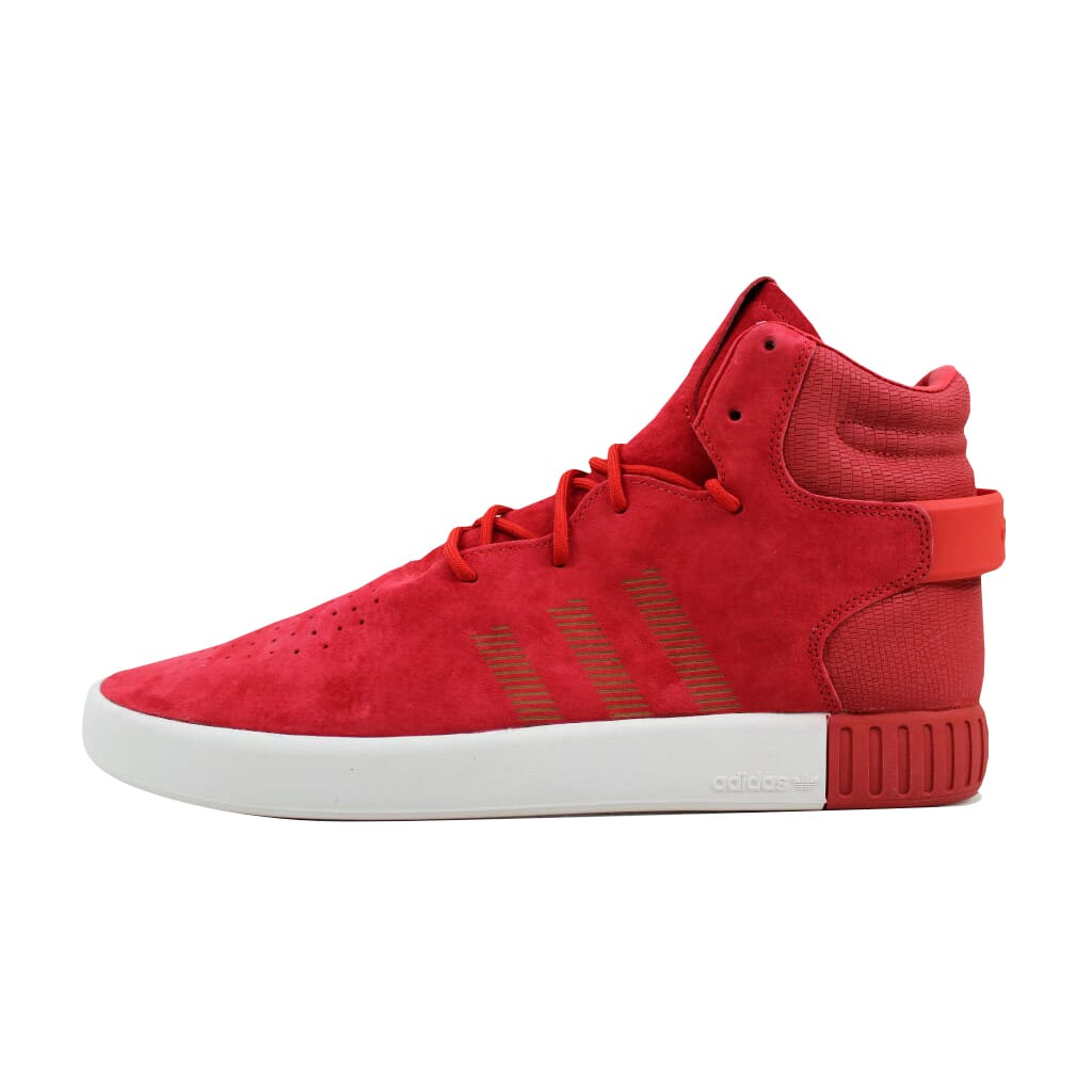 official photos c0ba5 f5922 Adidas Tubular Invader Red Red-Vintage White S81963 Men s SZ 12