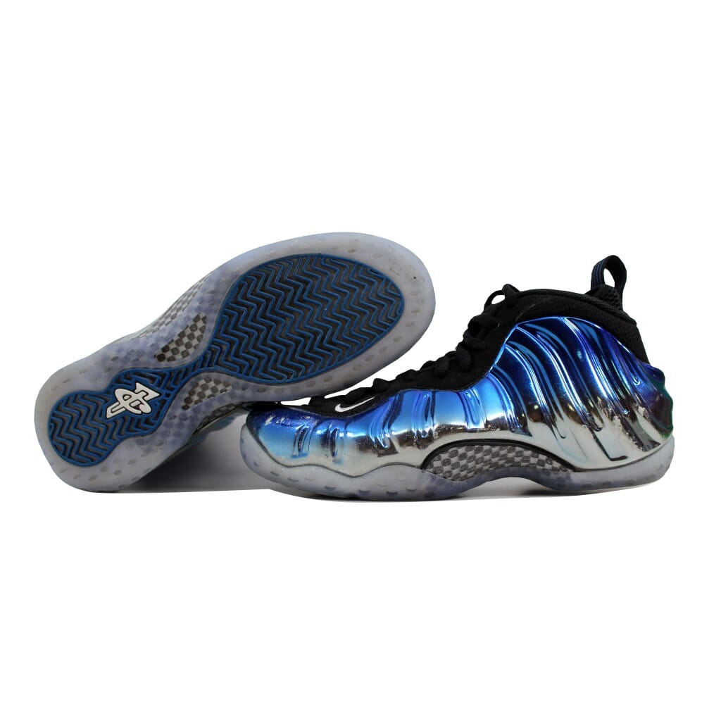 9d1f71242fa82 Nike Air Foamposite One 1 Premium Silver White-Royal Blue Mirror ...