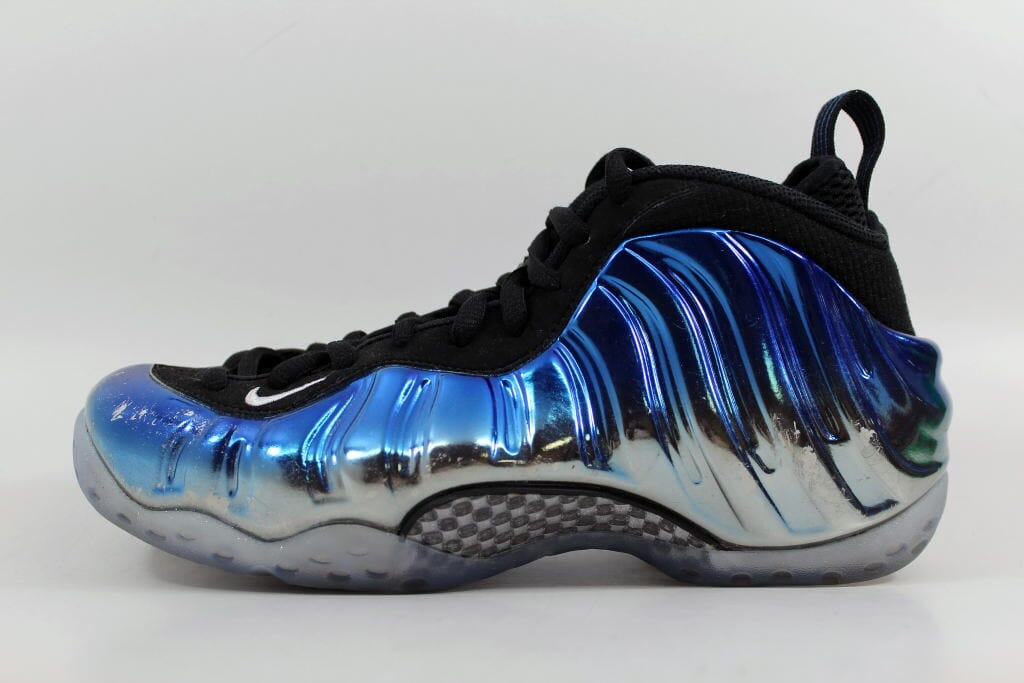low priced 7c032 3ed5b Nike Air Foamposite One 1 Premium Metallic Silver White-Dark Neon Royal-Black  Blue Mirror 575420-008 Men s Size 7