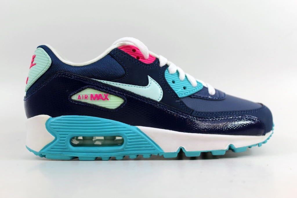 21d4f0fd55b0 Nike Air Max 90 2007 Brave Blue Teal Tint-Gamma Blue-Pink 345017-400 ...