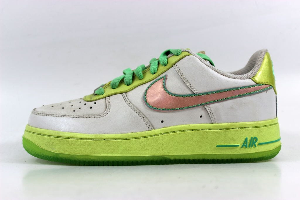 Nike Air Force One lime green and white size 7.5