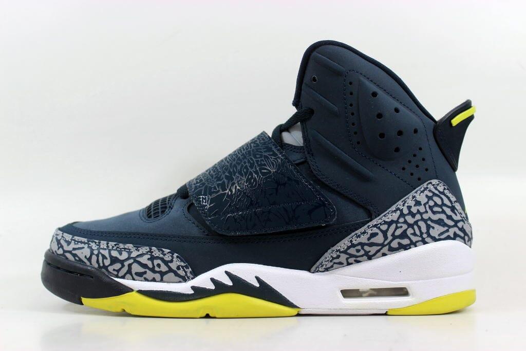 08ef86767fba57 Nike Air Jordan Son Of Mars Armory Navy Electrolime-White 512246-405  Grade-School Size 6Y