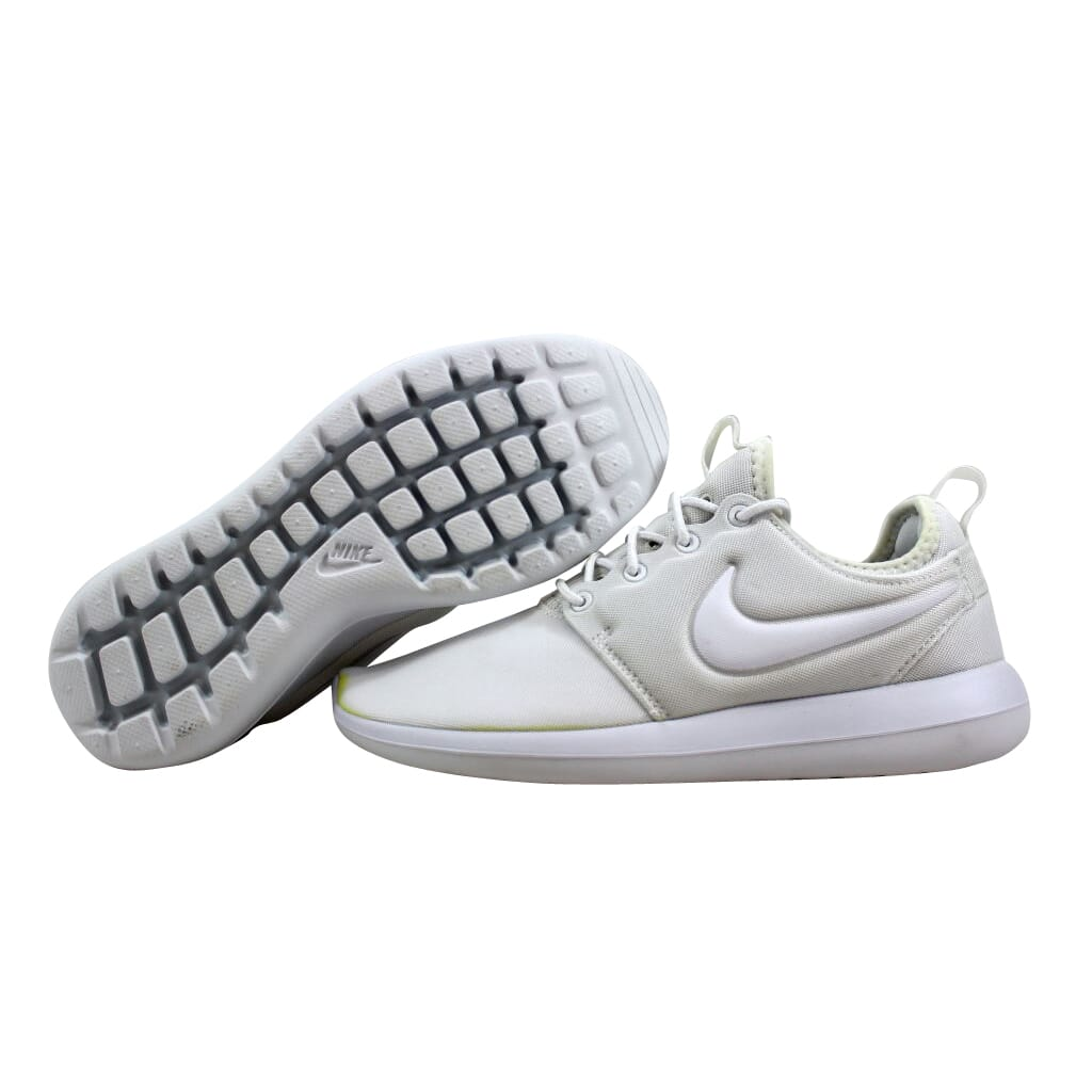 e71bd342f56e Nike Roshe Two White White-Pure Platinum 844931-100 Women s SZ 6.5 ...