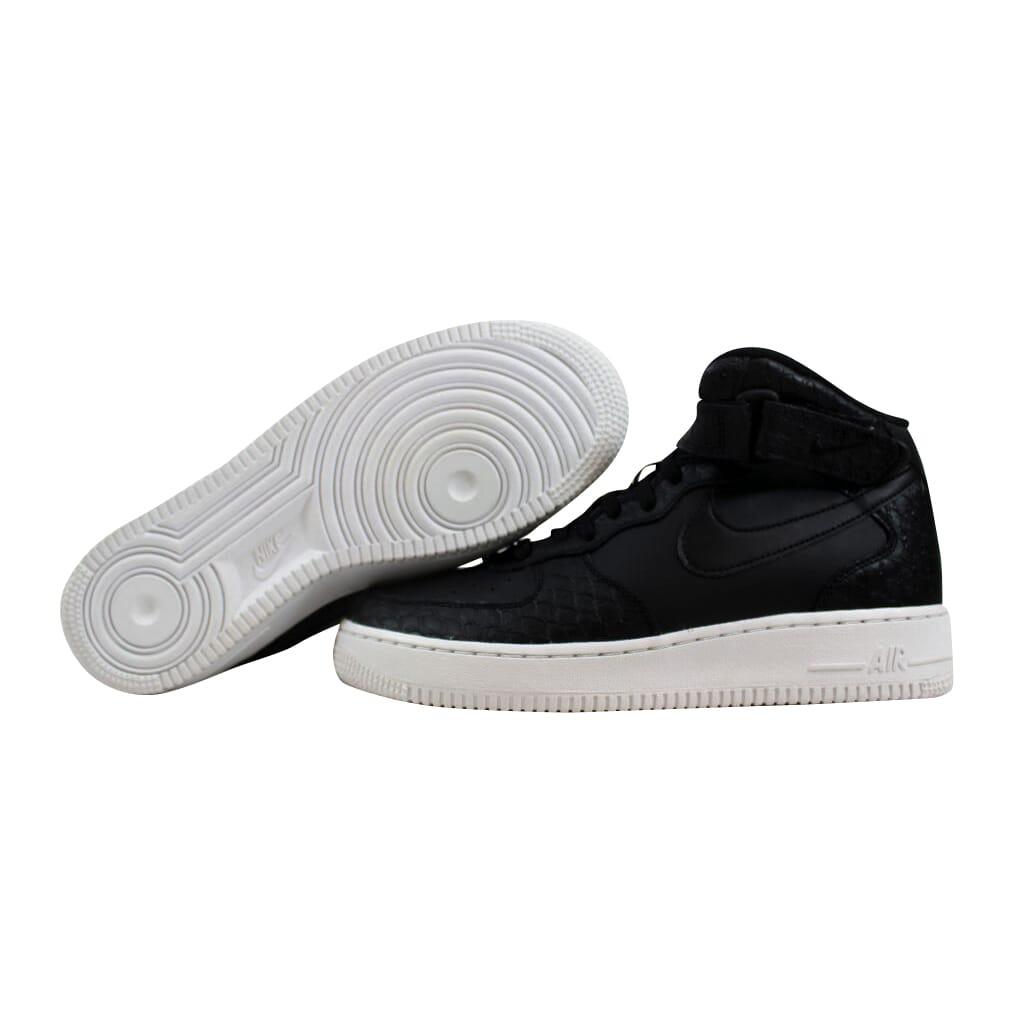 check out 2eb28 4a41e Nike Air Force 1 Mid LV8 Black/Black-White 820342-001 Grade-School ...