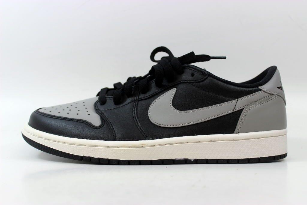 57675aa0a227 Nike Air Jordan I 1 Retro Low OG Black Medium Grey-Sail Shadow 705329-003  SZ 9.5