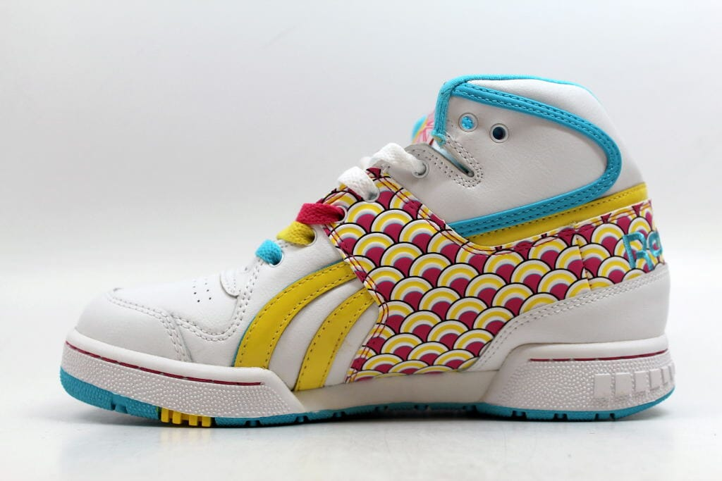 Reebok Pro Legacy Mid Fishscale White Hot Lips-Yellow-Blue 4-709987 ... cc99b7435825