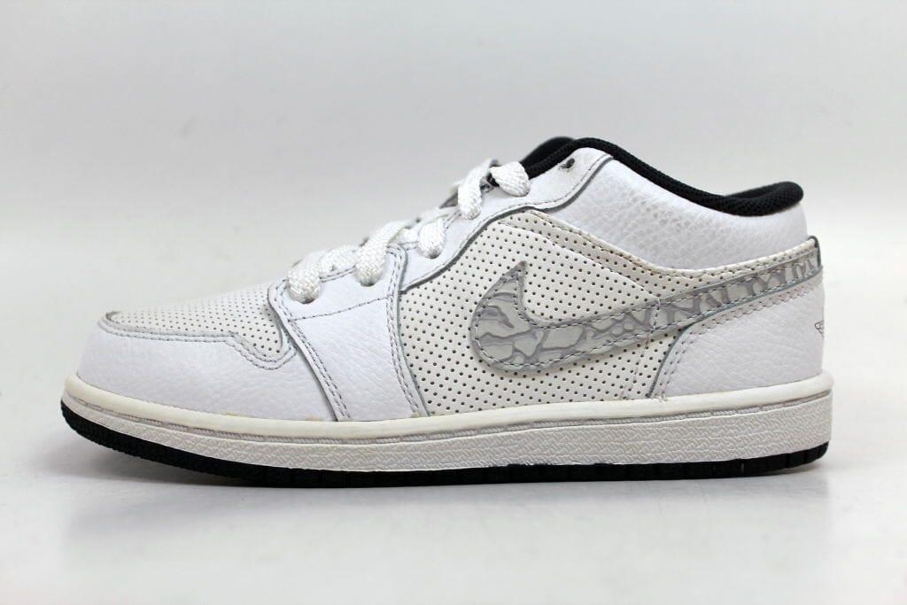 50016232ff5 Nike Air Jordan 1 Phat Low White/Anthracite Pre-School 338147-110 Size 1  Medium