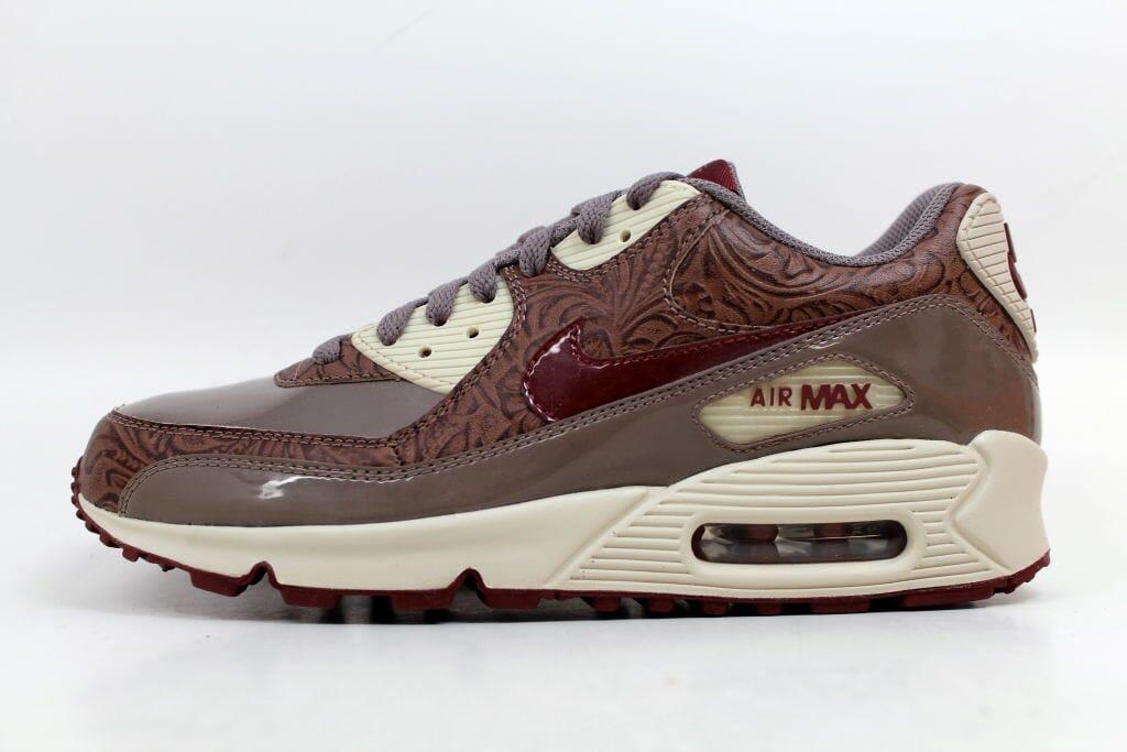4c45a36f43 Nike Air Max 90 Premium Orewood Brown/Red Earth-Brown 317246-261 Women's SZ  10.5
