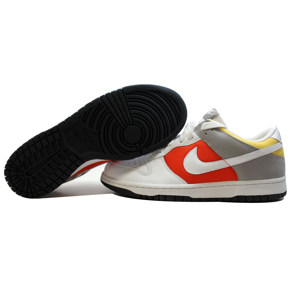 Nike Dunk Low White/White-Engine 1-Medium Grey 317813-113 Women's SZ 11.5